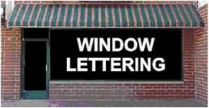 Vinyl for sign lettering for Storefront vinyl lettering