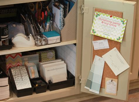 Easy Kitchen Cabinet Minioffice {organize}