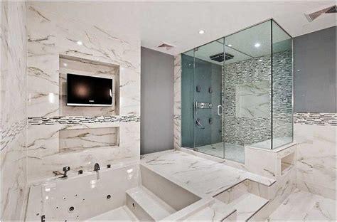 faience marbre salle de bain photo salle bain moderne carrelage sol mural marbre blanc cabine mosaique balneo