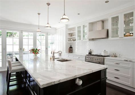 white marble kitchen island 20 of the most gorgeous marble kitchen island ideas 1436