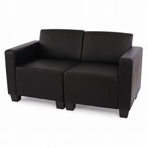 Kunstleder Couch Schwarz : modular zweisitzer sofa couch lyon kunstleder schwarz creme rot ebay ~ Watch28wear.com Haus und Dekorationen