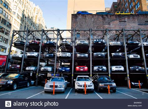 Multi Level Open Space Car Parking Stock Photo