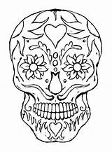 Coloring Skull Pages Sugar Bones sketch template
