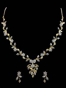 American Diamond Necklace Set C122-rj21 Cilory com