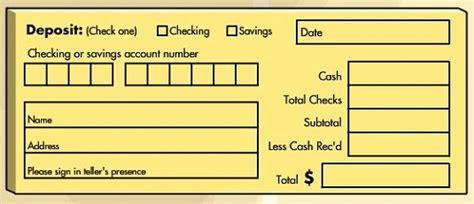 blank deposit slip a savings account deposit on banking
