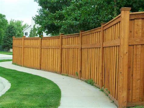 Backyard Fence Options by Wood Fence Designs To Suit Your House Interior