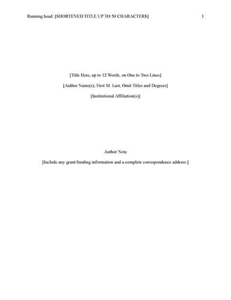 Microsoft Office Apa 6th Edition Template Microsoft Word Apa 6th Edition Template Apa Style Report