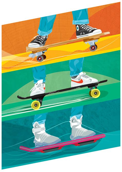 bttf hoverboard skateboard deck back to the future charity print for v cancer