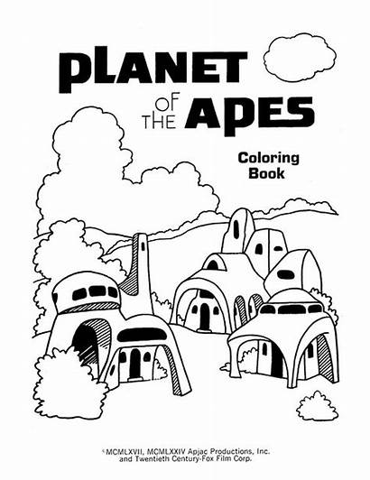 Apes Planet Coloring Cbt Let Different