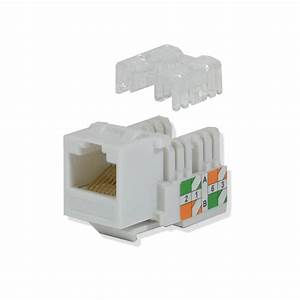 Cat5e Keystone Jack 110 Punch Down Network Ethernet Rj45