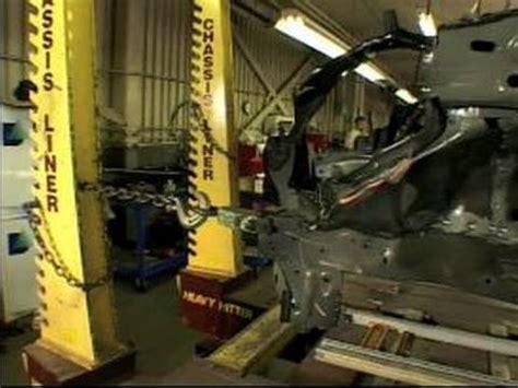 car repair  wrecked car frames