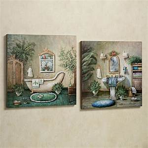blissful bath wooden wall art plaque set wooden wall art With artwork for bathroom walls
