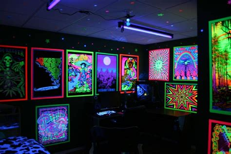 The Temple  Blacklights In The Home  Pinterest Room