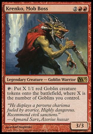 goblin commander deck 2015 don krenko combo goblins multiplayer commander