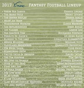 2017 Funny Fantasy Football Team Names — Vimarc ...