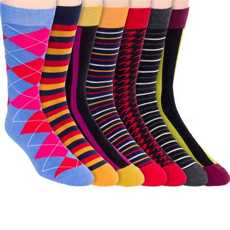 mens colorful dress socks jyinstyle mens cotton colorful patterned fashion crew