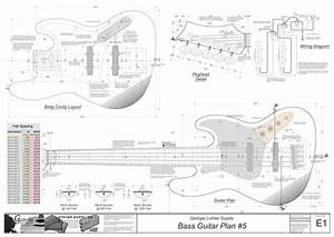 bass guitar plans 5 electronic version highway 1 jazz With bass guitar body templates