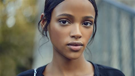 Wallpaper Aya Jones, model, spring 2015 top models, eyes ...