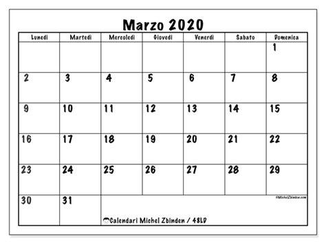 foto de Calendario marzo 2020 48LD Michel Zbinden IT