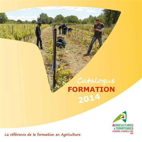 formation chambre d agriculture calaméo catalogue formation 2014 chambre d 39 agriculture
