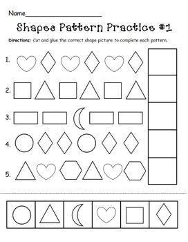 shapes pattern practice page ot stuff preschool math 608 | 565ac40c4b875b0e81b60b153b8ec50f