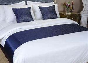 hot sale red and blue bed scarf for all kinds of hotelbed With bed runners for sale online