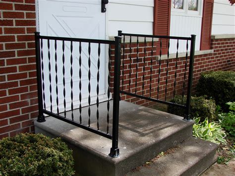 metal porch railing wrought iron railings for porches