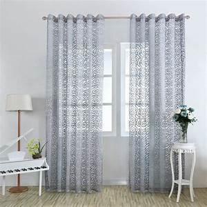 rideaux de fenetre de porte fleuri panneaux de rideaux With rideaux pour fenetre chambre