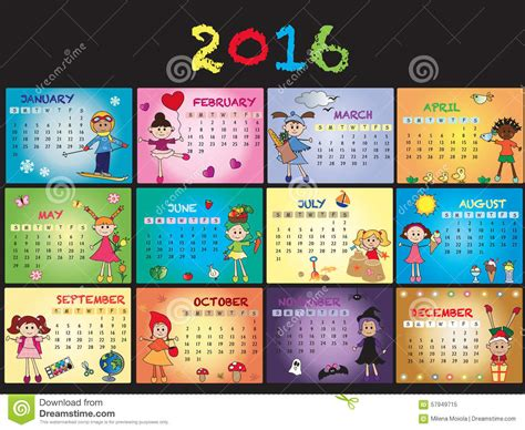 calendar  stock illustration image