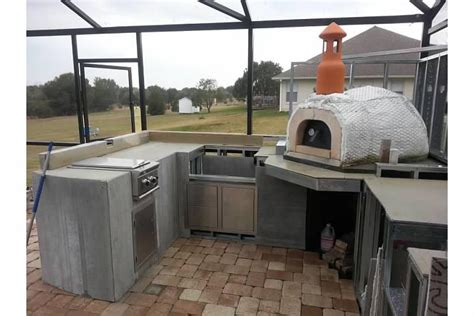 outdoor kitchen designs with pizza oven outdoor kitchen with wood fired pizza oven 9023
