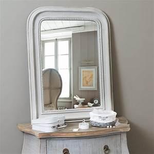 Miroir En Bois Gris H 80 Cm ELGANCE Maisons Du Monde
