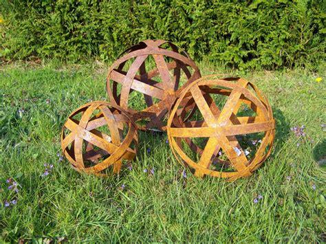 Gartendeko Kugel Rost by Gartendeko Rost Kugel Gro 223 Neu Edelrost Landhausstil