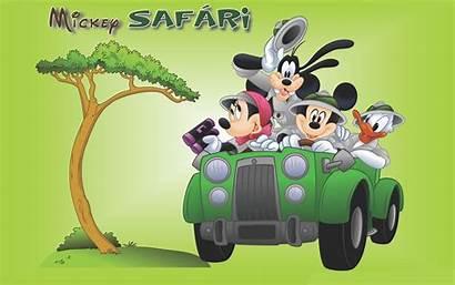 Mickey Mouse Safari Minnie Donald Duck Cartoon