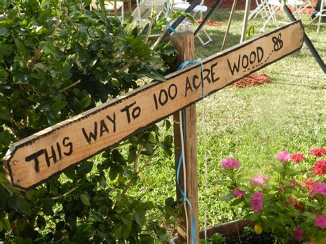 Winnie The Pooh Baby Shower Sign This Way To 100 Acre Wood