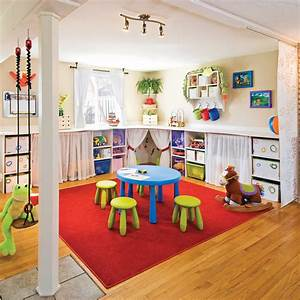 salle de jeu multicolore rangement inspirations With idee deco salle de jeu