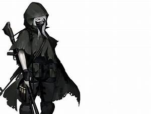 cape gloves gun hellshock mask original red eyes weapon ...