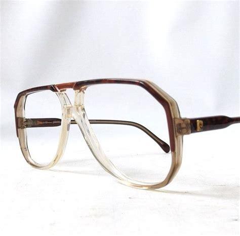 vintage 1970's pierre cardin eyeglasses black by