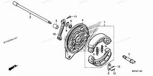 Honda Motorcycle 2010 Oem Parts Diagram For Rear Brake
