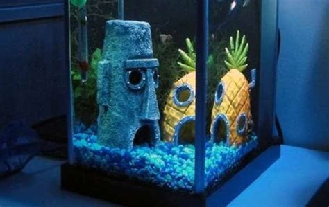 spongebob fish tank accessories fish tank abodes spongebob squarepants