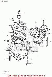 Suzuki Rm125 1983  D  Cylinder