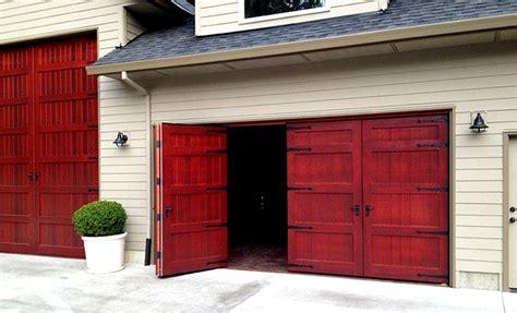 Large Exterior Doors by Bifold Doors Weatherproof Wood Garage Door Non Warping