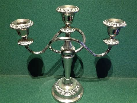 Candlestick Holders by Vintage Silver Plated Ianthe Candelabra For Three Candles
