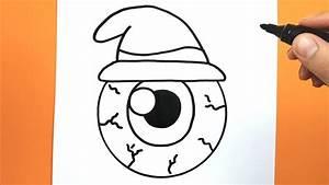 Dessin Facile Yeux : comment dessiner et colorier un oeil de sorci re avec un chapeau youtube ~ Melissatoandfro.com Idées de Décoration