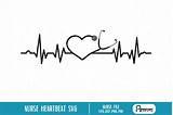 Nurse Heartbeat svg - heartbeat vector file (187703 ...