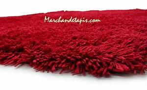 Tapis Shaggy Rouge : tapis shaggy acrylique 160cm x 230cm rouge marchand de tapis ~ Teatrodelosmanantiales.com Idées de Décoration