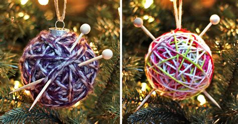 how to make a yarn ball ornament two methods