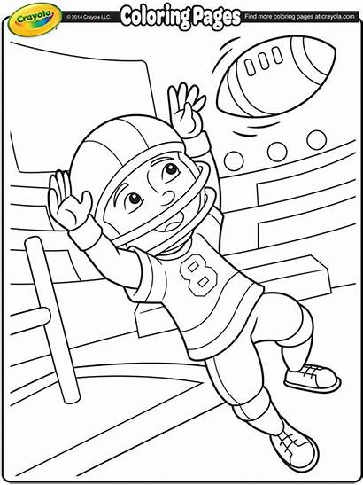 Football Star Coloring Crayola Pages Soccer Fun