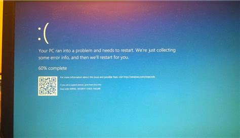 solved kernel security check failure bsod error in