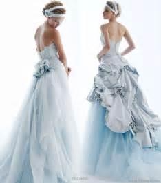blue wedding gown coloured wedding dresses fantastical wedding stylings