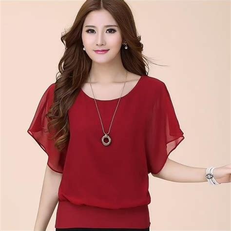 womens plus blouses blouses shirts 2016 summer chiffon blouse
